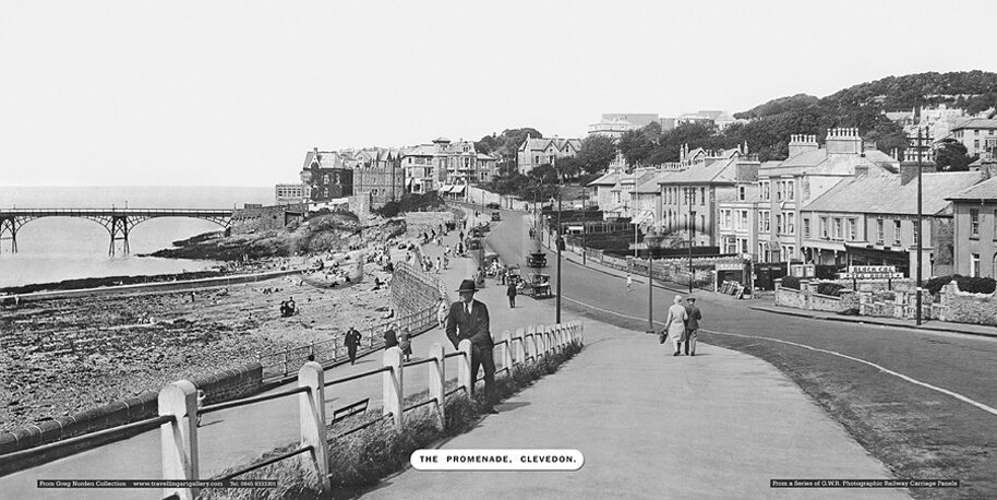 Clevedon, the Promenade - Great Western Railway