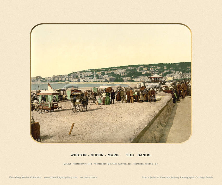Weston-Super-Mare, The Sands  - Photochrom (various railways)