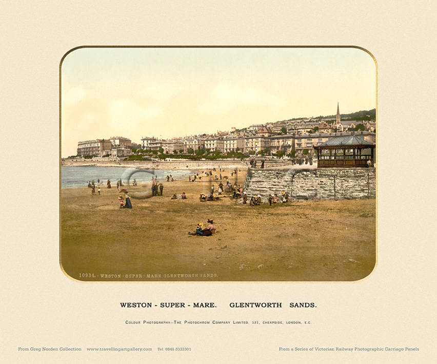 Weston-Super-Mare, Glentworth Sands  - Photochrom (various railways)