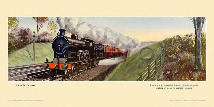 1900 Lancashire & Yorkshire Railway express, Walkden by Cuthbert Hamilton-Ellis