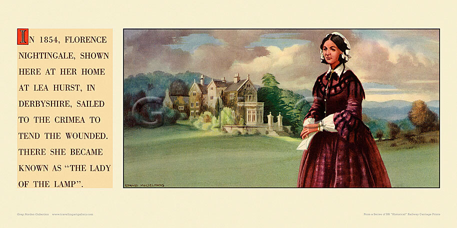 In 1854 Florence Nightingale at Lea Hurst, Derbyshire. by Edward Mortelmans