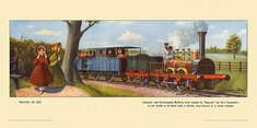 1835 Leicester and Swannington Railway train by Cuthbert Hamilton-Ellis