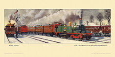 1870 North London Railway train for Broad St. at Richmond by Cuthbert Hamilton-Ellis