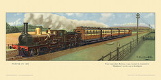 1890 West Lancashire Rly train on the way to Southport by Cuthbert Hamilton-Ellis