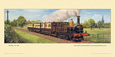 1895 East and West Junction Rly train at Stratford-on-Avon by Cuthbert Hamilton-Ellis