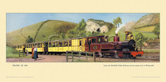 1905 Leek and Manifold Valley Rly train at Wettonmill by Cuthbert Hamilton-Ellis