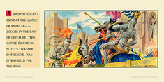 A jousting tournament at Castle of Ashby De La Zouch. by Albert Richard Whitear