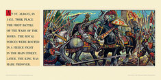 At St Albans in 1455 was the first battle of Wars of Roses. by  Winslade