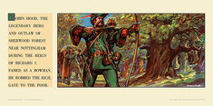 Robin Hood, legendary hero, Sherwood Forest, Notts.  by Harry Redvers Winslade