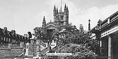 Bath Abbey From Parade Gardens  - Great Western Railway