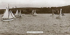 Falmouth Harbour - Yachts Racing - Great Western Railway
