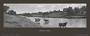 Alnwick Castle [from across River] - North Eastern Railway
