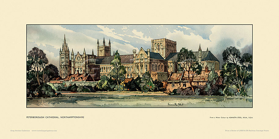 Peterborough Cathedral by Kenneth Steel