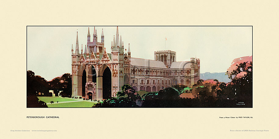 Peterborough Cathedral by Fred Taylor