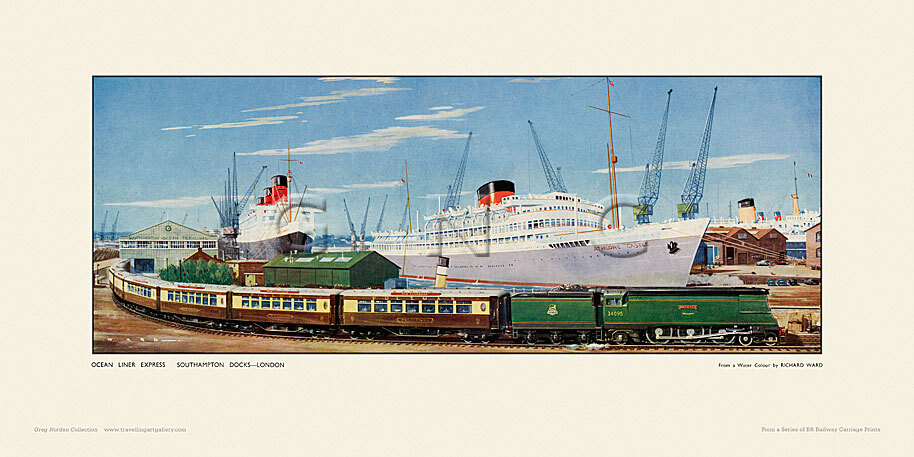 Southampton Docks, Ocean Liner Express by Richard Ward