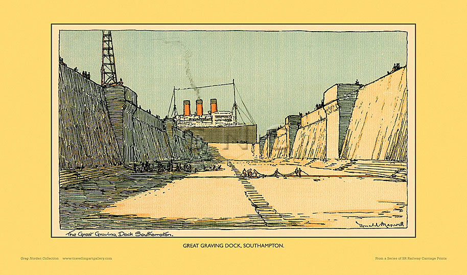 Southampton, Great Graving Dock by Donald Maxwell