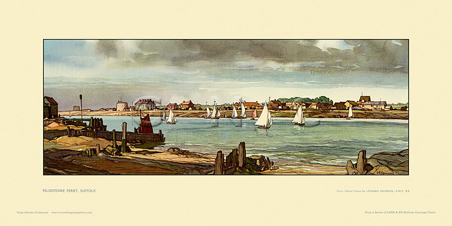 Felixstowe Ferry by Leonard Russell Squirrell