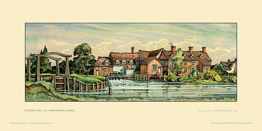 Flatford Mill, nr Manningtree by Kenneth Steel