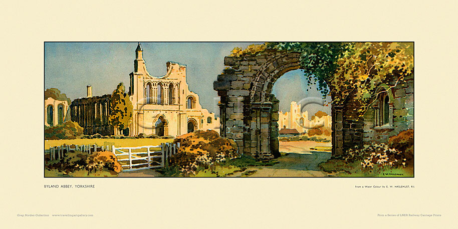 Byland Abbey by Ernest William Haslehust