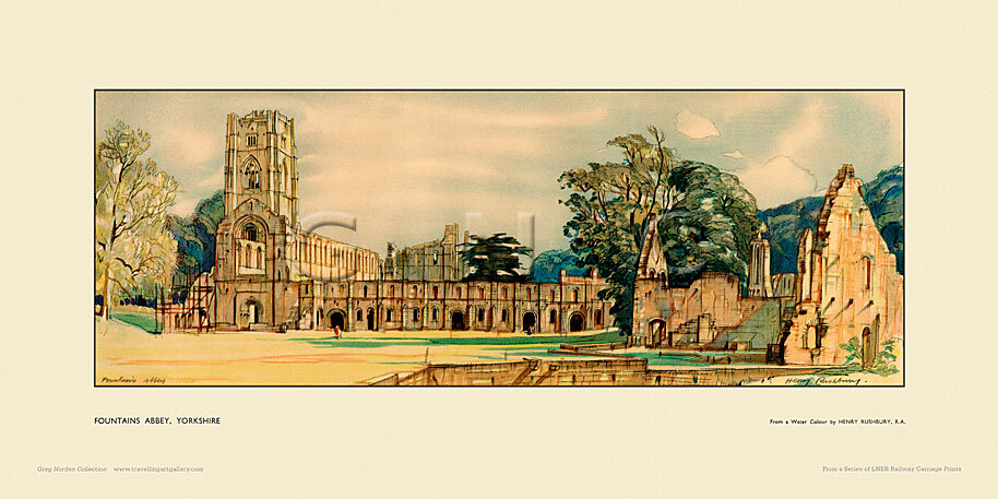 Fountains Abbey by Sir Henry George Rushbury