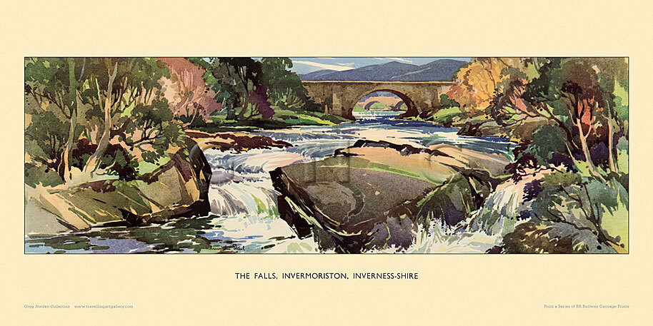 Invermoriston, Falls by Kenneth Steel