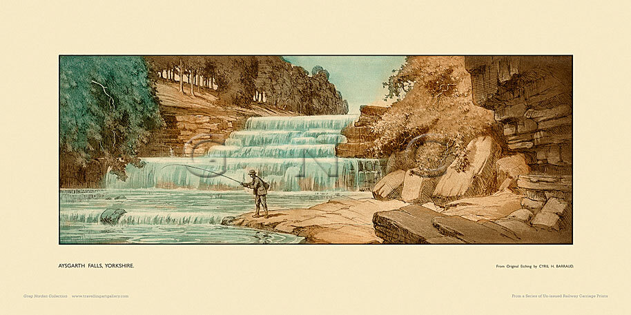 Aysgarth Falls by Cyril H Barraud