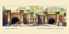 London, South Portals, Primrose Hill Tunnels by Claude Buckle