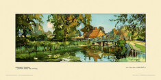 Constable Country, Flatford Bridge & Cottage by Edwin Byatt