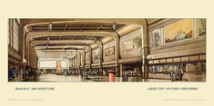 Leeds City Station Concourse by Claude Buckle