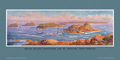 Round Island Lighthouse & St Martins, from Trescoe by Claude Montague Hart