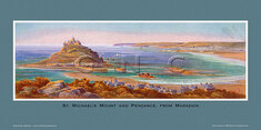 St Michael's Mount & Penzance, from Marazion by Claude Montague Hart