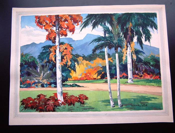 KENNETH STEEL Original Artwork TROPICAL MOUNTAINS (PROBABLY JAMAICA)