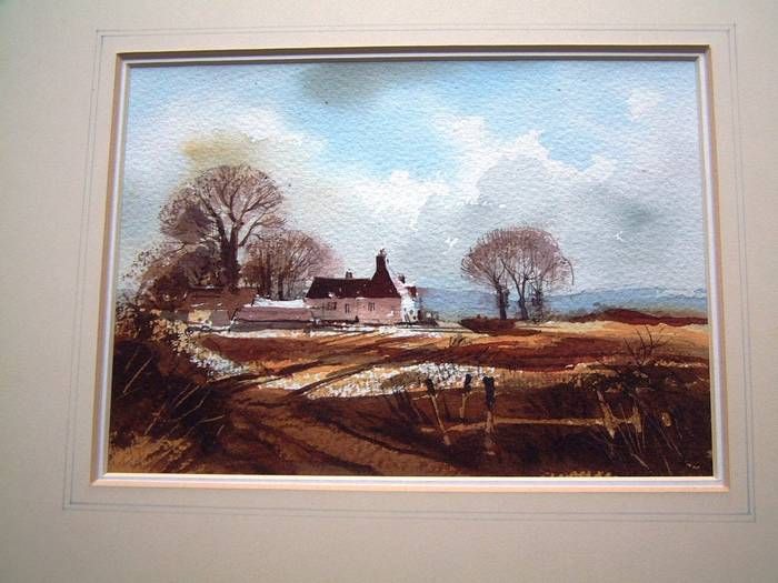 KENTISH LANDSCAPE. Watercolour. In style of ROWLAND HILDER
