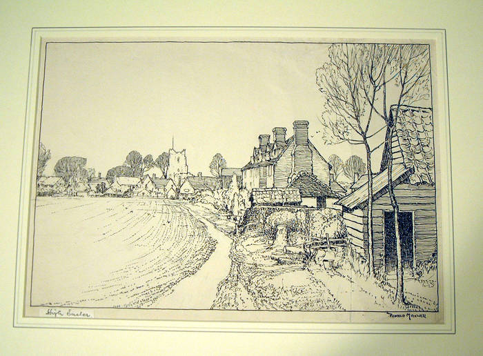 HIGH EASTER, ESSEX. ORIGINAL INK  ARTWORK for books by DONALD MAXWELL