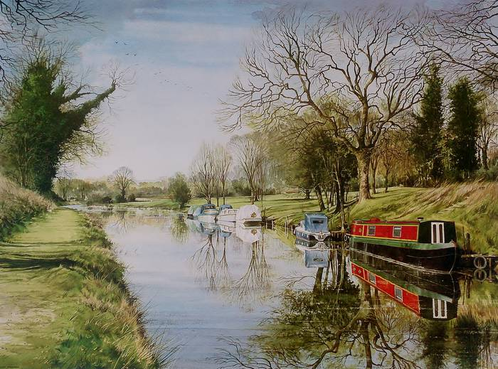 STILL DAY ON THE KENNET by ALAN FARROW. Royle Publications Print, 1985