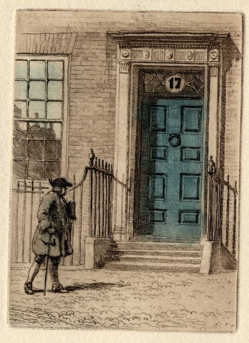 DR JOHNSON'S HOUSE, 17 GOUGH SQUARE. ETCHING BY CYRIL H BARRAUD