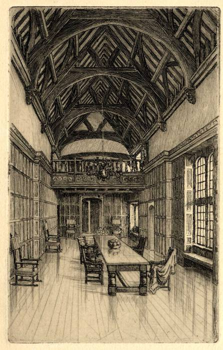 COGGESHALL, ROYAL OAK COTTAGE. ORIGINAL ETCHING by CYRIL H BARRAUD