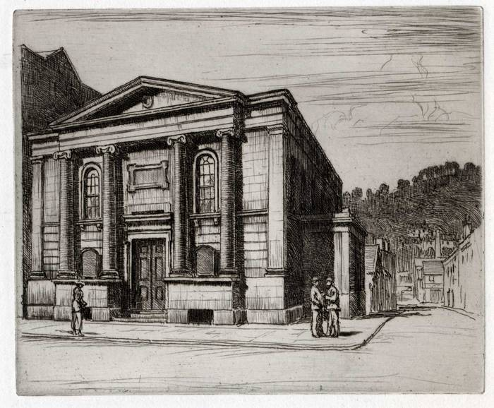 St JAMES CHURCH? ORIGINAL ETCHING by CYRIL H BARRAUD