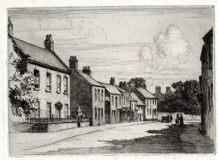 THE MILL, SILVER STREET, TROWBRIDGE? ORIGINAL ETCHING by CYRIL H BARRAUD
