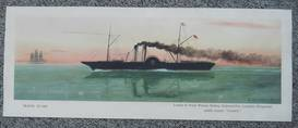 Original Railway Carriage Print TRAVEL IN 1860 LNWR PADDLER CAMBRIAN H Ellis