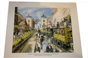COMPLETE SET OF 12 ORIGINAL WHITBREAD RAILWAY PRINTS by David Knight, 1965