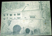 UPPER SWELL, Original fine pencil drawing by R H Eason for illustration 1949