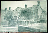 BEAULIEU MILL. Original fine pencil drawing by R H Eason for illustration 1959