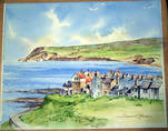 ROBIN HOOD'S BAY, YORKSHIRE by SCOT C HOWDEN. Original watercolour.
