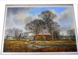 SHIPTON NR WINSLOW, BUCKINGHAMSHIRE. Watercolour by EDWARD STAMP R.I.