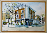 PHENE ARMS PUBLIC HOUSE, CHELSEA. Watercolour by WILLIAM NEWTON