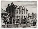 BOROUGH ROAD TRAINING COLLEGE, LONDON. ORIGINAL ETCHING by CYRIL H BARRAUD