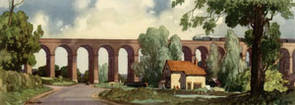 Colne Valley Viaduct, Essex by Leonard Russell Squirrell
