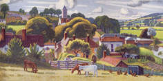 East Devon [Otterton] by Adrian Allinson