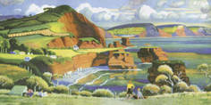 Red Devon [Ladrum Bay] by Adrian Allinson